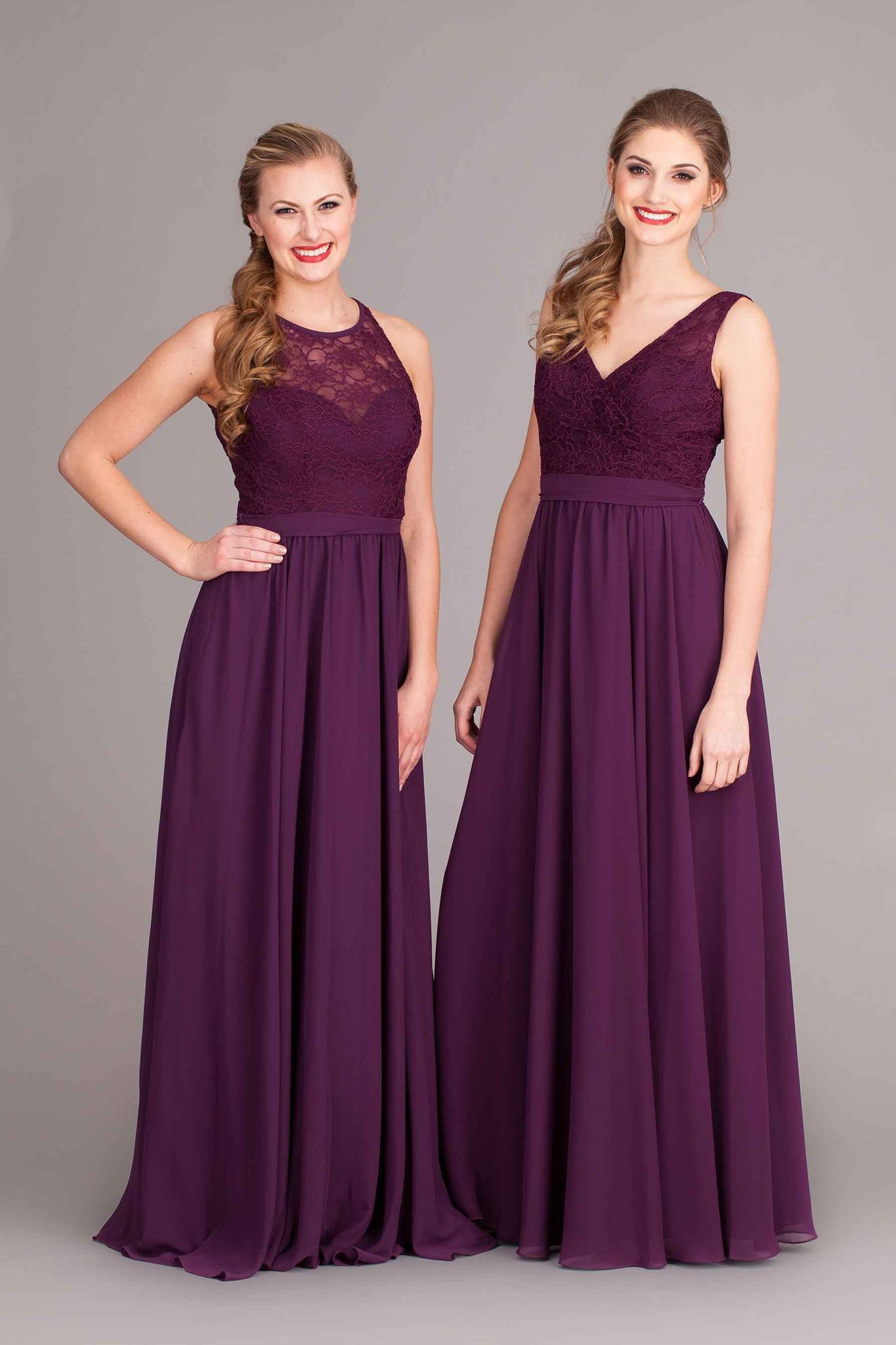 Delilah   Chiffon bridesmaid dresses, Eggplants and Elegant