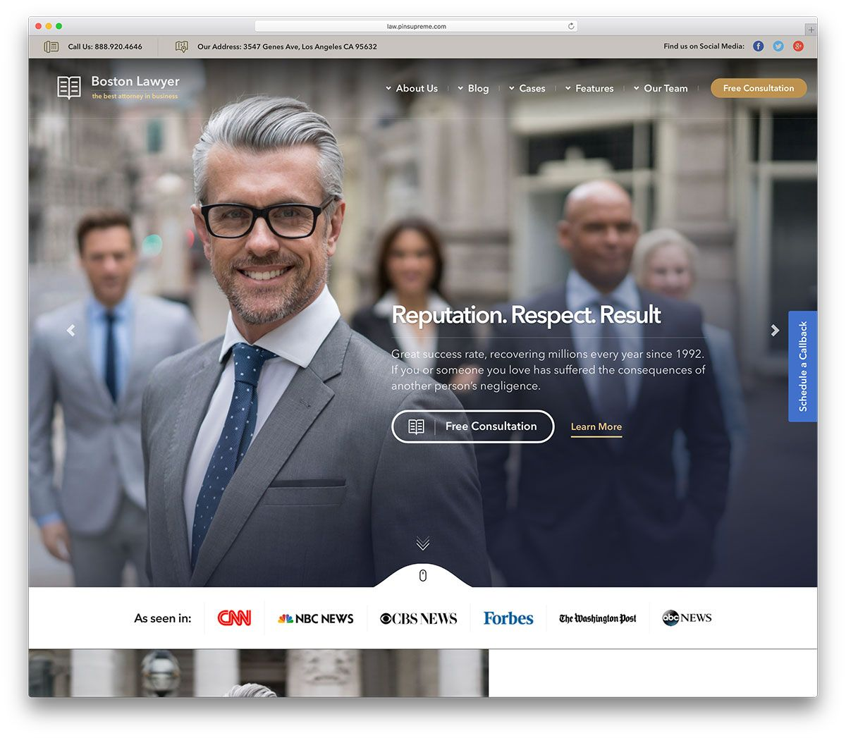 42 Best Lawyer Wordpress Themes For Law Firms And Attorneys 2020