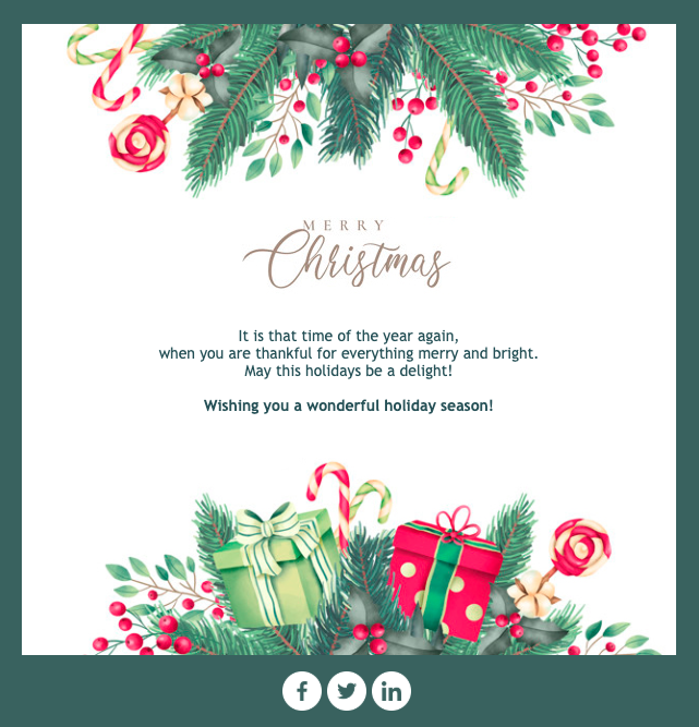 Christmas Card Email Template Email Christmas Cards Email Design Inspiration Christmas Card Design