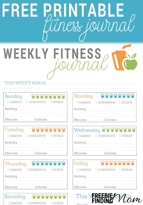 FREE Printable Fitness Journal Fitness journal, Free printable and - Free Fitness Journal Printable