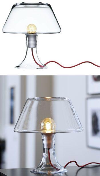 Maria Berntsen: Classic One Modern Glass Table Lamp | Available from NOVA68.com Modern Design