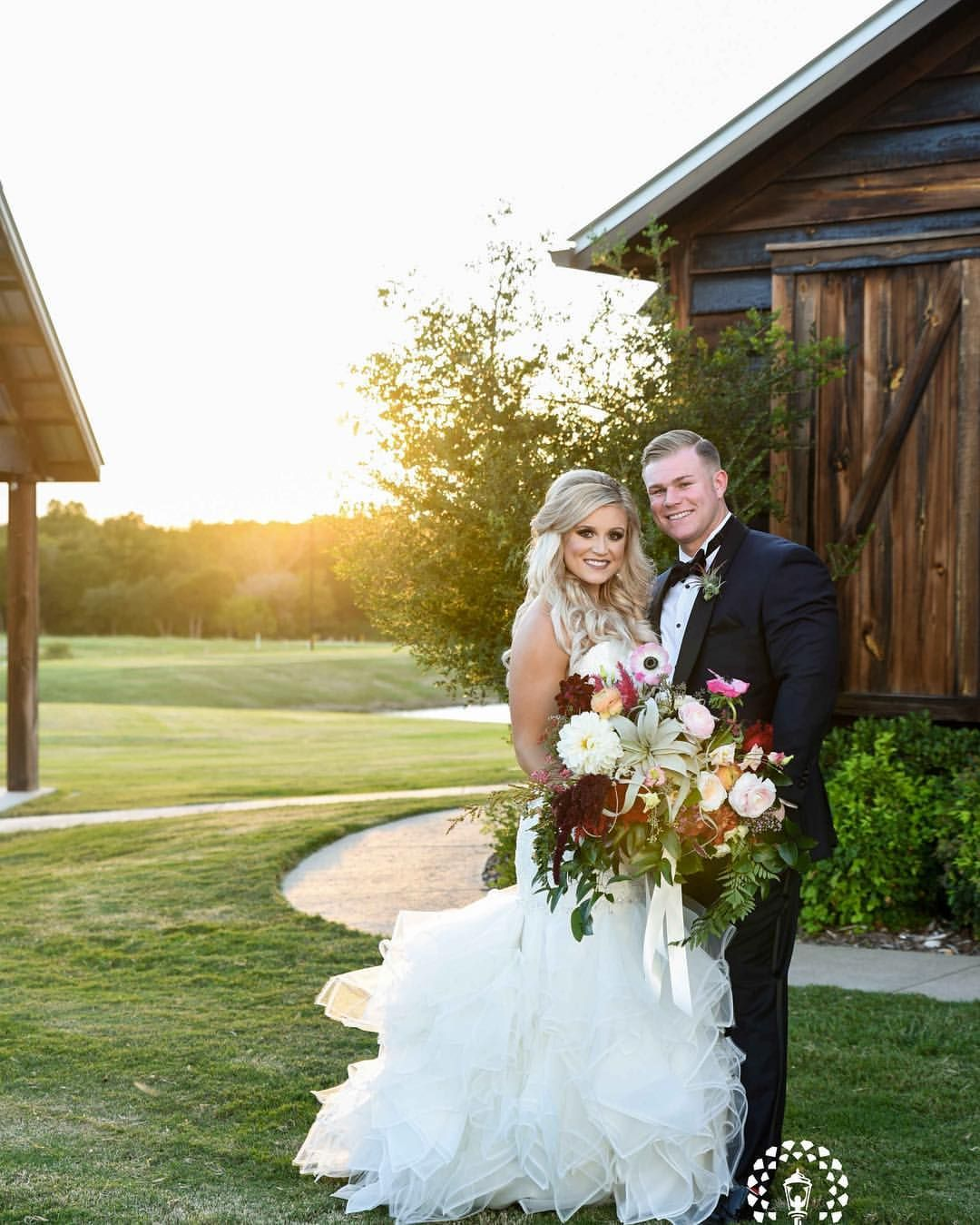 Sunsets On Beautiful Ranch Wedding Reception At Thistle