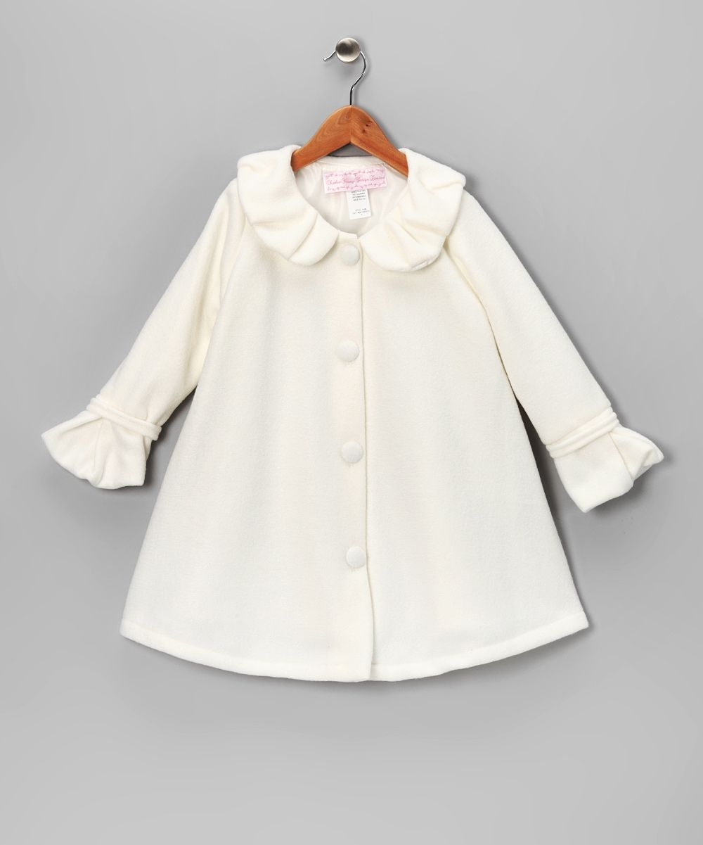 7b14538a2 Off-White Polar Fleece Swing Coat