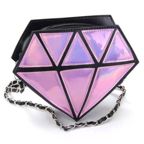 diamond purse| $6.79  kawaii pop kei space grunge nu goth cyber grunge fachin purse accessories bag under10 under20 under30 newchic