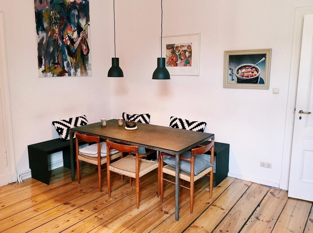Schöner #Essbereich in der #Küche mit Holzboden. #altbau #wohung ...