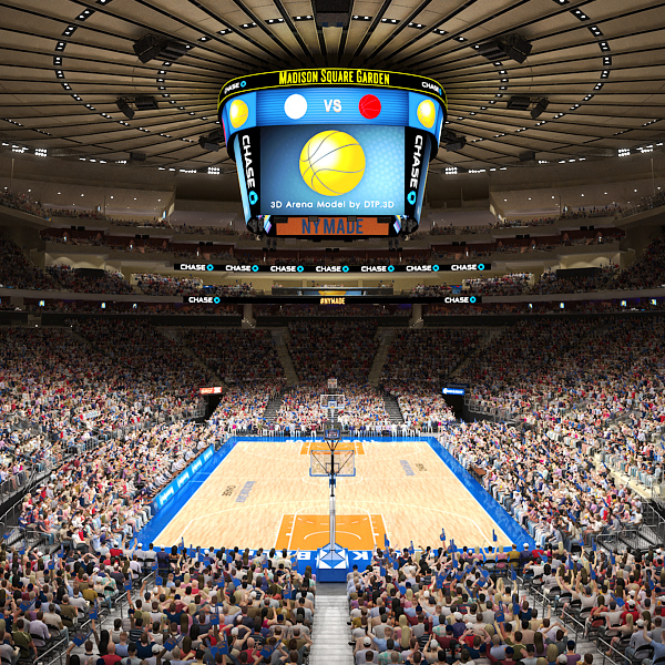 3d Madison Square Garden Arena Model In 2020 Madison Square