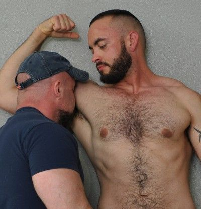 Hairy horny gay men
