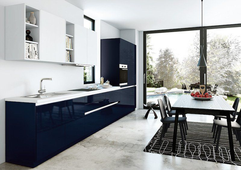cuisine bleu gris canard ou bleu marine code couleur et ides de dcoration
