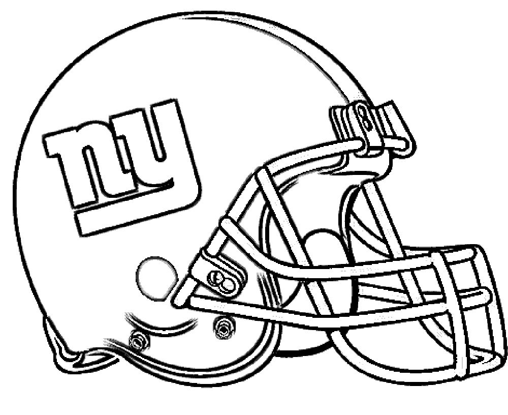 Football Helmet New York Giants Coloring Pages | Football Parties ...