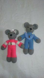 CCA Artesanatos: Ursinhos de crochê (amigurumis).