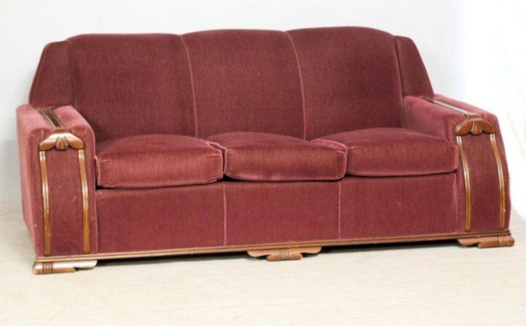 vintage art deco furniture. Deco Sofa, See The Matching Chair Photo. Vintage SofaFurniture VintageArt Art Furniture 1
