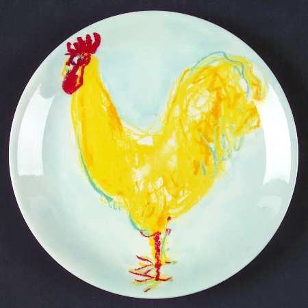 Rooster Plate by Tiffany & Rooster Plate by Tiffany | Rooster/Chicken Dinnerware/Serveware ...