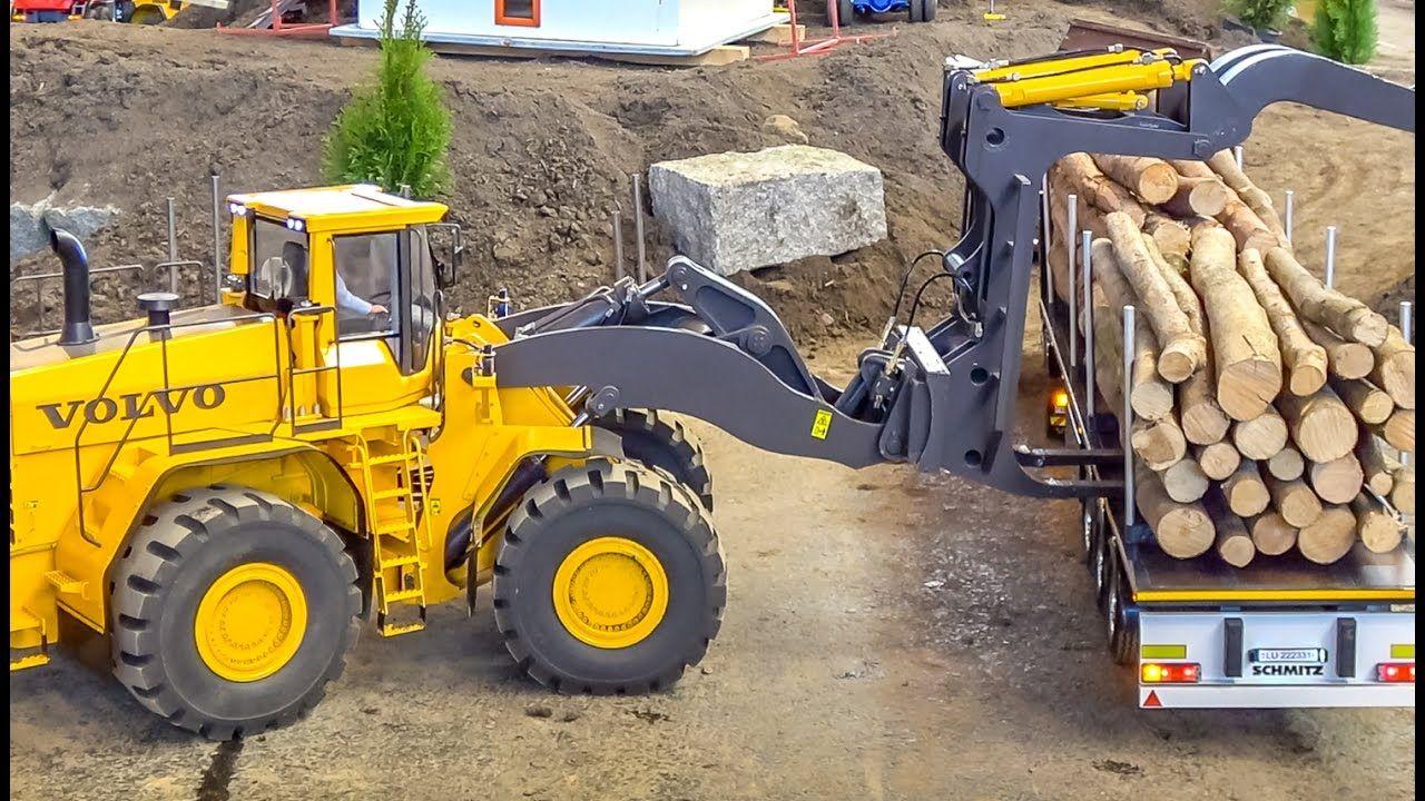 RC MONSTER! Huge Volvo wheel loader in GIANT 1/8 scale works