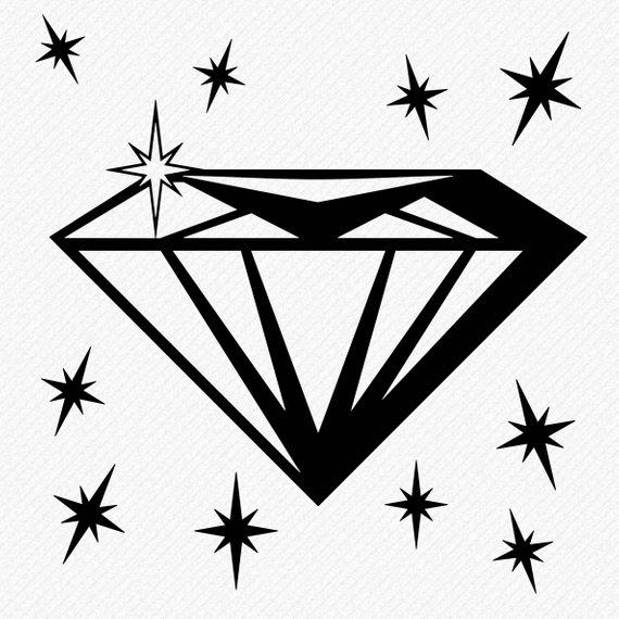 Diamond Svg Diamond Clipart Diamond Silhouette Cricut Diamond
