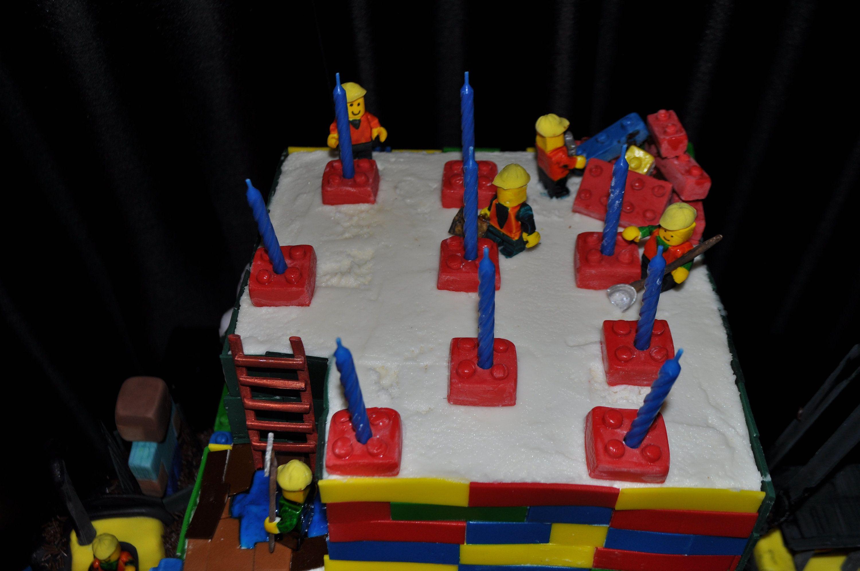 6 Edible Lego Block Candle Holders Brick Edible Brick Cake