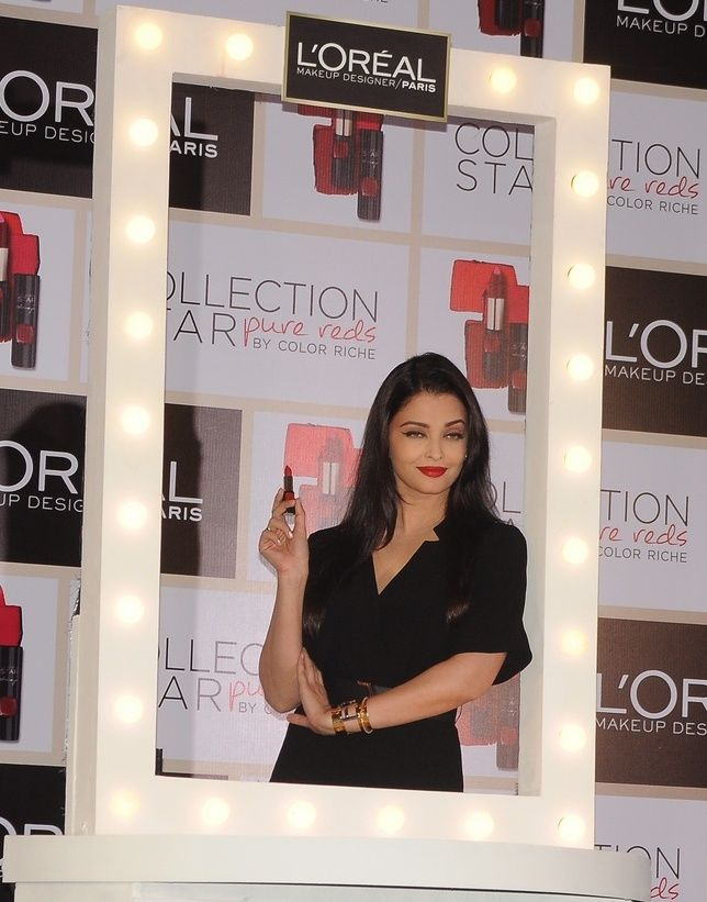 Aishwarya Rai Bachchan and L'Oréal Paris a special launch of Color Riche Collection Star Pure Reds. For more updates please visit #getmovieinfo