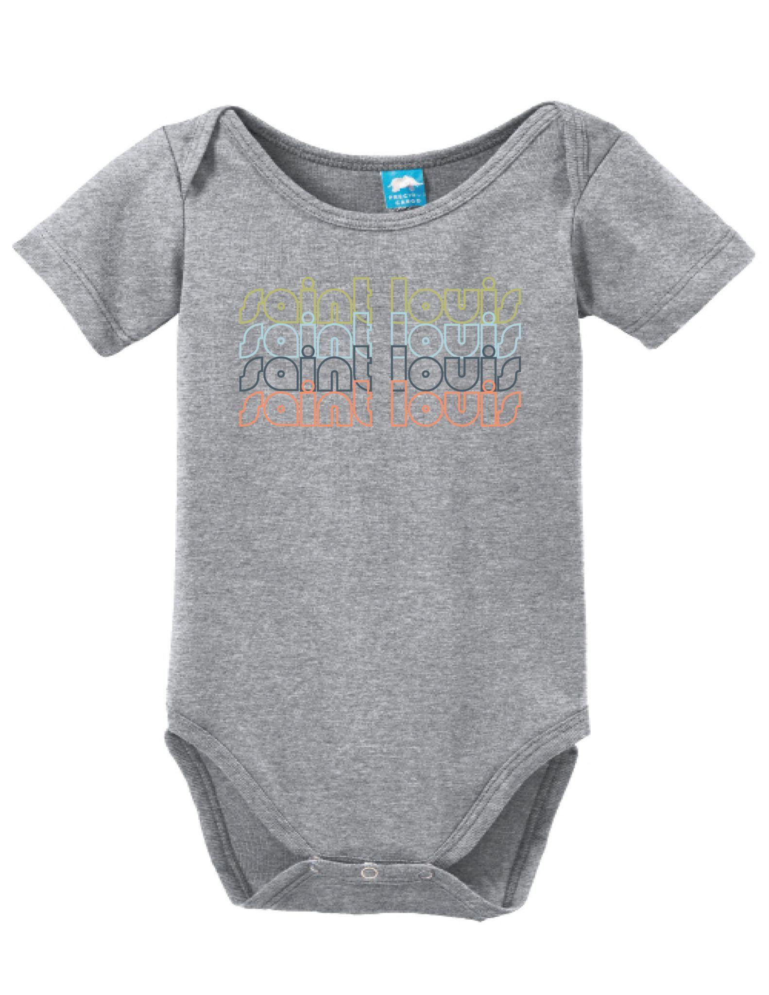 Saint Louis Missouri Retro Onesie Funny Bodysuit Baby Romper