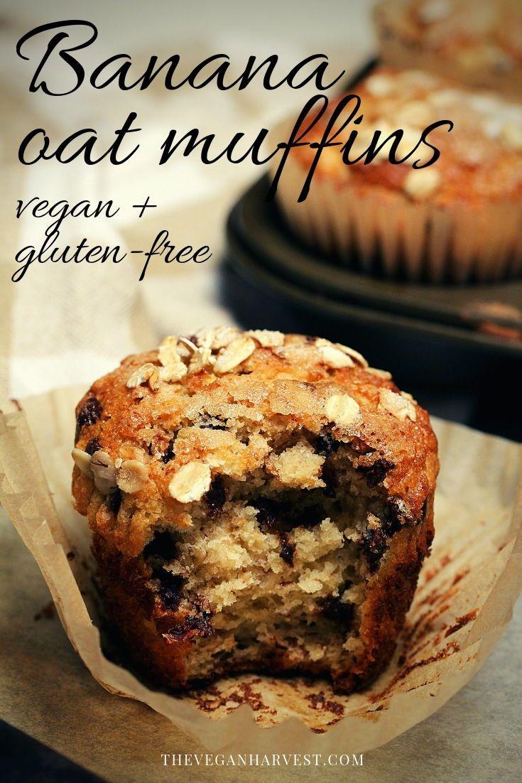 Banana oat muffins vegan glutenfree the vegan harvest