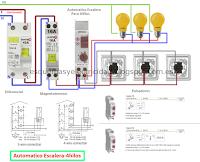 Esquemas Electricos Automatico Escalera Grasslin Esquemas Electricos Proyectos Electricos Escalera