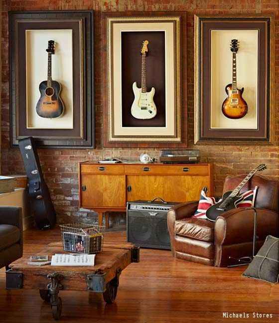 The Perfect Man Cave For Any Music Lover. This Man Cave