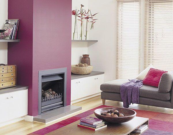 Quelle couleur associer à un mur aubergine ? | Salons, Foyers and Room