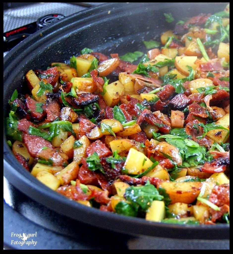 Home Cooking with Sonya: Potato Kielbasa Skillet
