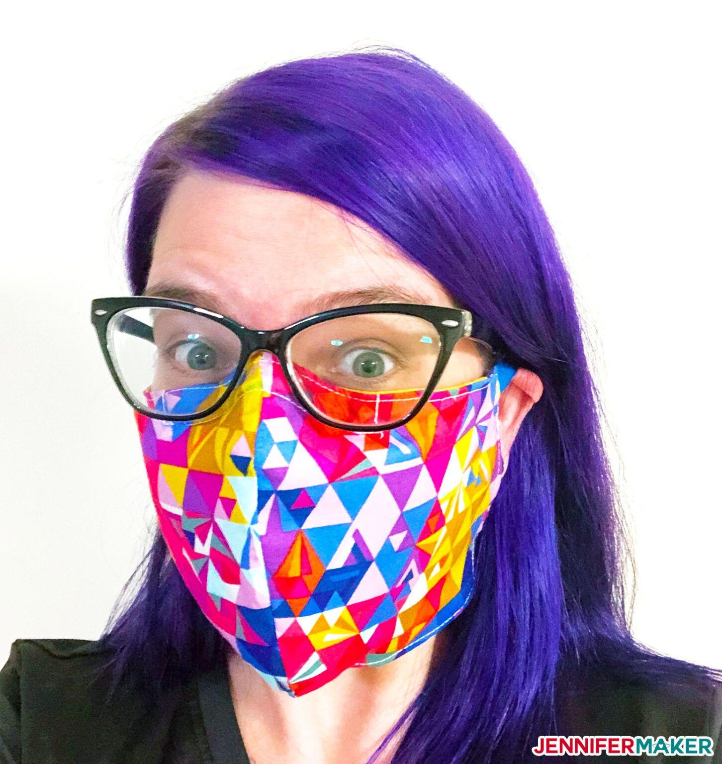 DIY Face Mask Patterns Filter Pocket & Adjustable Ties