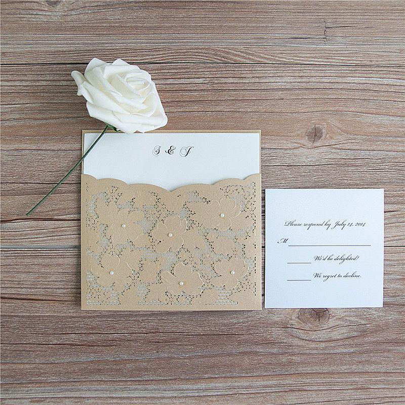 Individuelle Laserschnitt Einladungskarten Zur Hochzeit Oder Geburtstag Ab  4,50 U20ac Pro Stück.