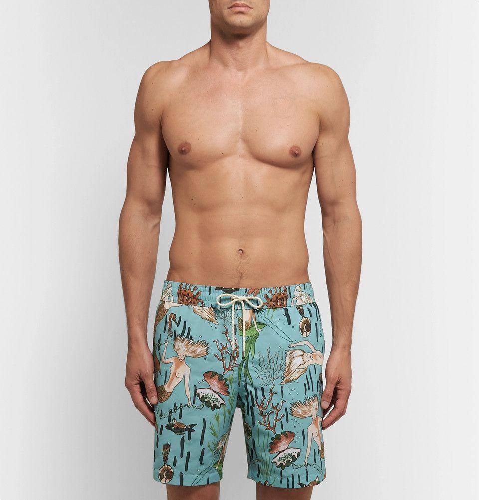 950144117a Loewe - + Paula's Ibiza Mid-Length Mermaid-Print Swim Shorts   SWIM ...