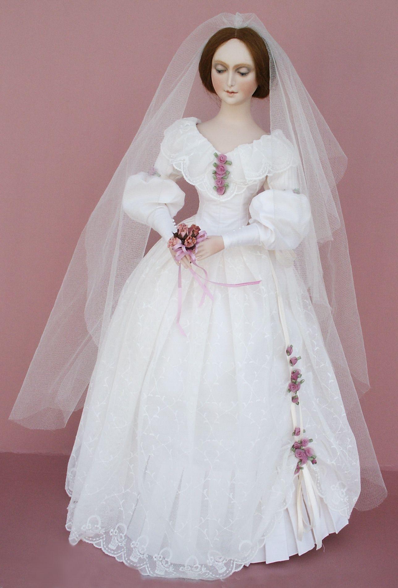 Doll wedding dress  Lady Kathryn  inch doll by Betty Bailey  My Dolls  Pinterest  Dolls