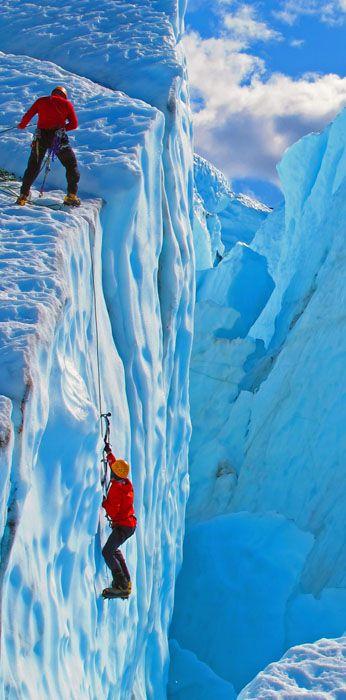 Ice climbing...