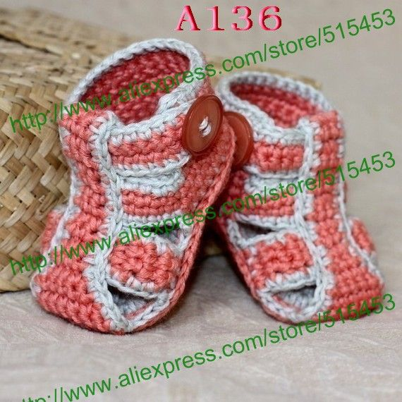 De verano para bebés la mano tejido bebé sandalias de ocio zapatos ...
