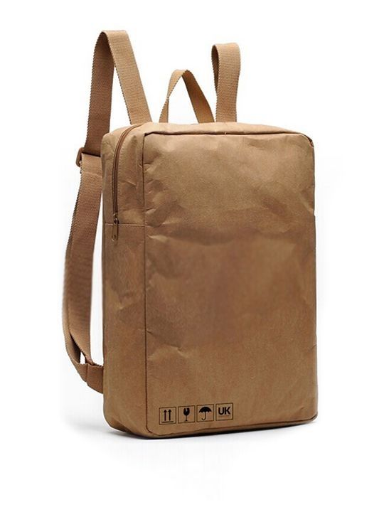 Wholesale Hiking Backpack Kraft Paper Bag China Factory Waterproof Bag  Paper Backpack Bag China Manufacturer ce000e2e82009