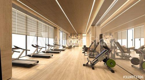 3d render of fitness gym center , #affiliate, #fitness, #render, #center, #gym #Ad