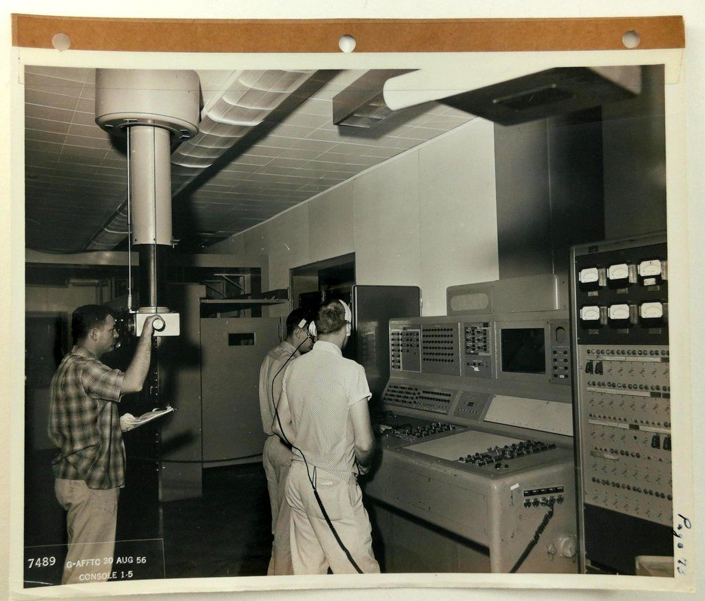 1956 Official Edwards Air Force Base Photo Control Room