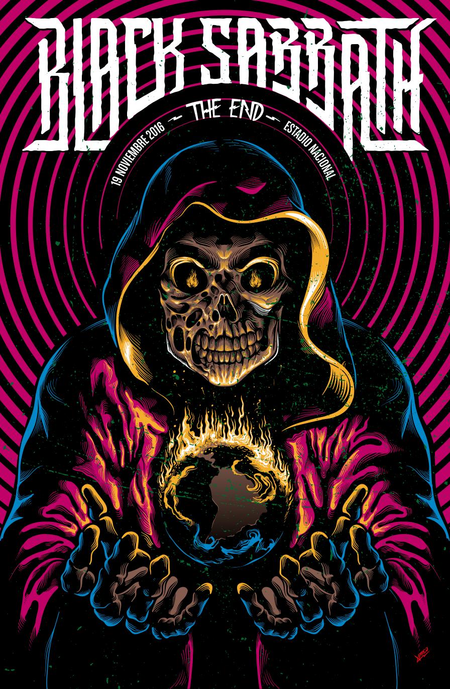 M.J. Lew Guitar Hero Art Poster Print - 12x24 Art Poster Print by M.J. Lew, 24x12