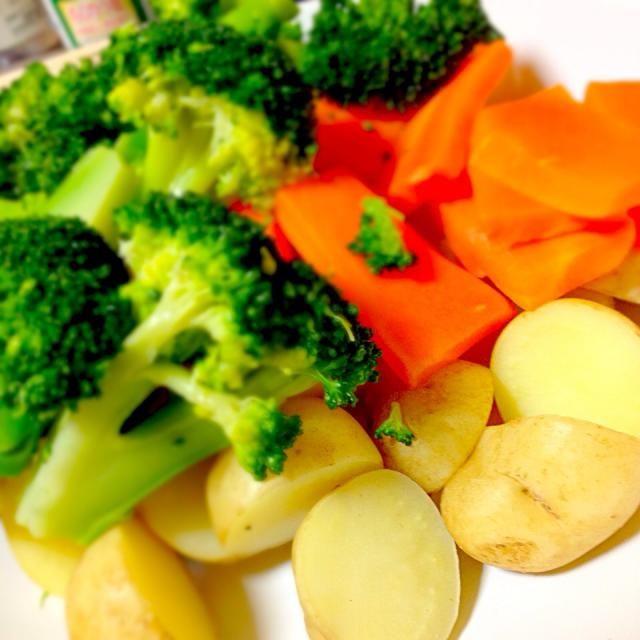全部電子レンジで調理したので栄養が逃げにくく、水っぽくなく調理できました。 - 9件のもぐもぐ - 新野菜の温野菜 by hiyoridbs