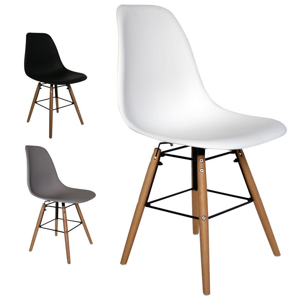 Details zu Retro Schalen-Stuhl Sitz Esszimmer-Stühle Plastik Vintage ...