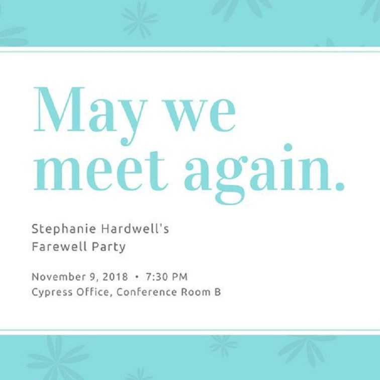 Farewell Party Invitation Letter To Boss Party Invitation