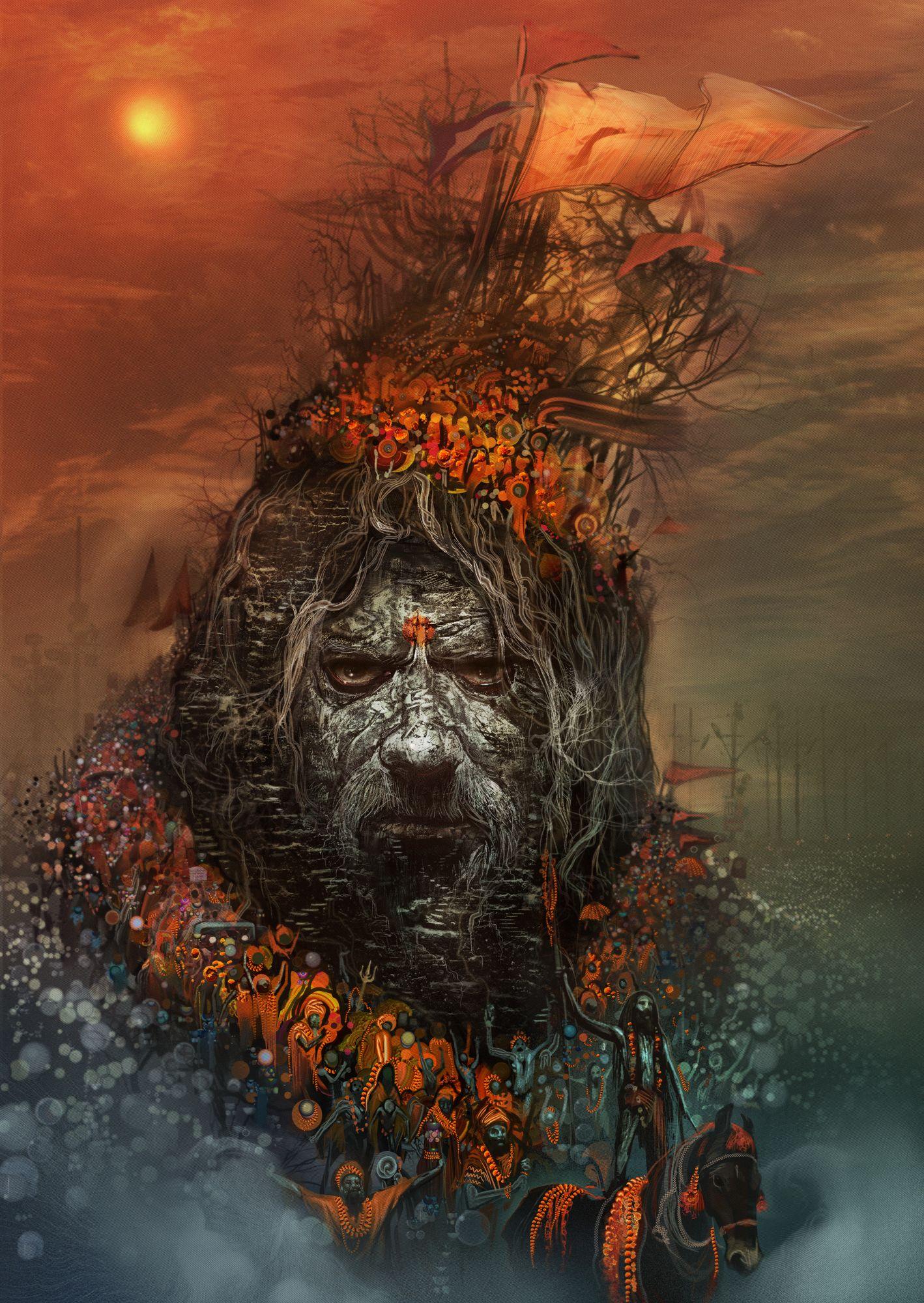 Illustration Android jones, Shiva art, Shiva lord wallpapers
