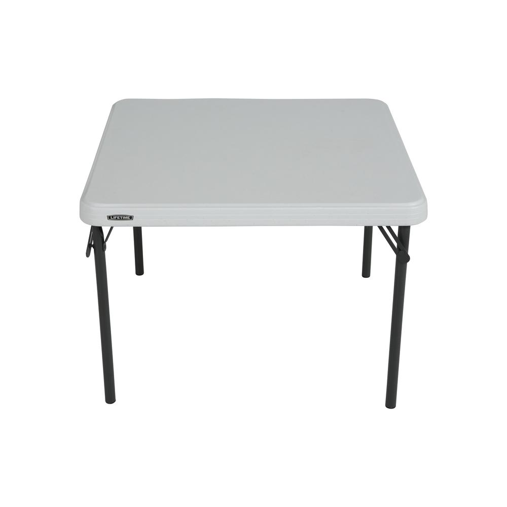 Lifetime 29 In White Plastic Portable Folding Kids Table 80534 The Home Depot In 2020 Folding Table Kids Folding Table Lifetime Tables