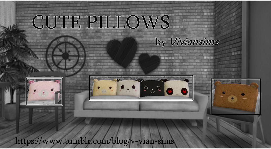 Ikari Sims Sims 4 Anime Sims 4 Cute Pillows