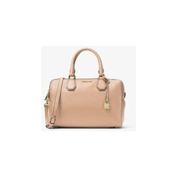 9445d8d3100f Michael Kors Studio Mercer Medium Leather Duffel ( 156) ❤ liked on Polyvore  featuring accessories