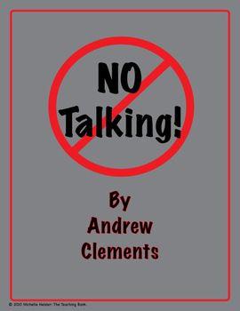 No Talking Novel Unit ~ Common Core Standards Aligned!