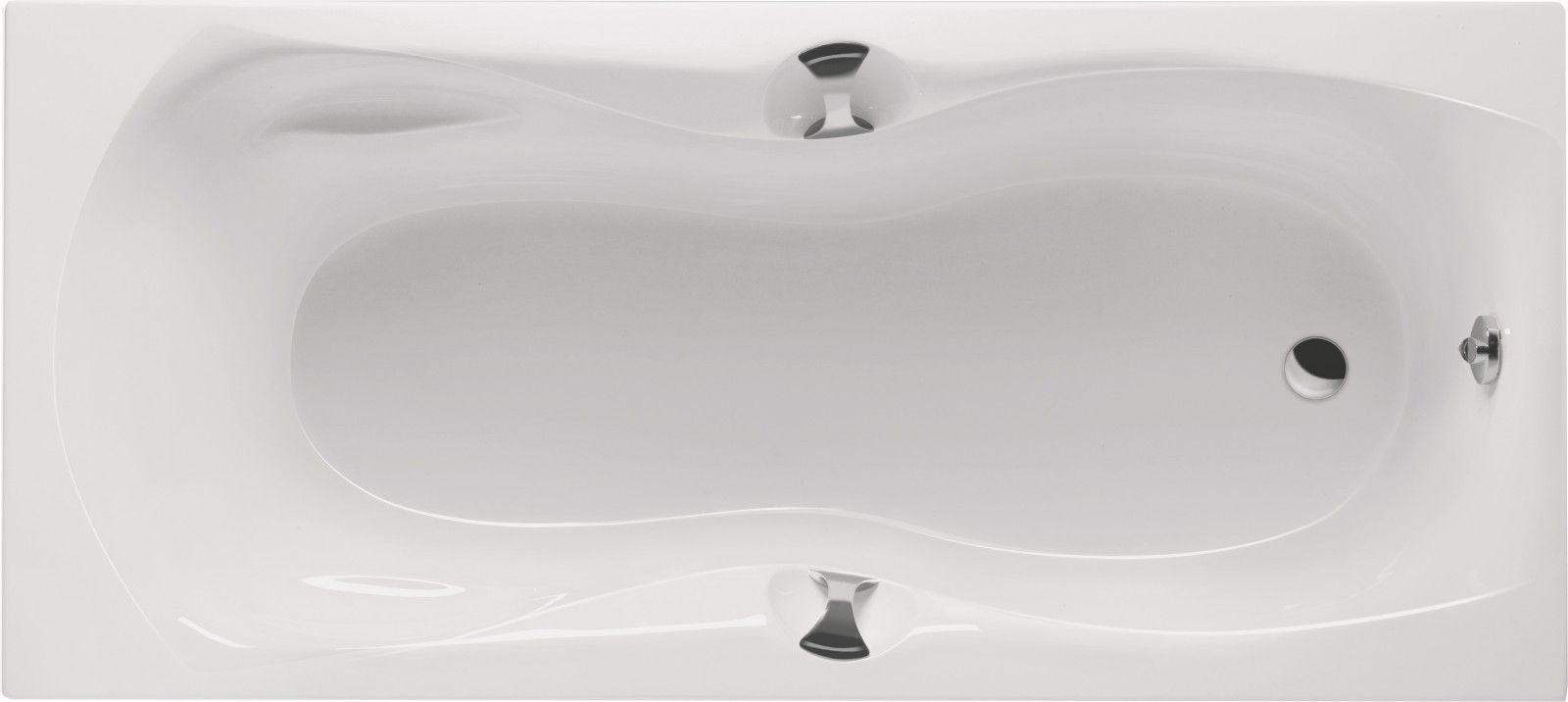 Badewanne Mit Griffen 160 X 75 X 42 5 Cm Bad Design Heizung Badewanne Wanne Acryl Weiss