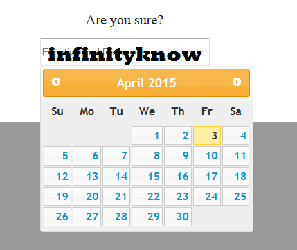 AngularJS Datepicker Directives Example with Source Code