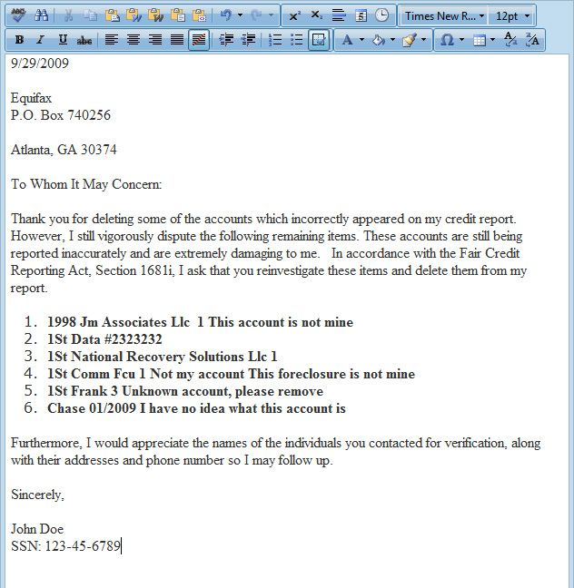 Dispute letter generator, Software for credit repair business - accomplishment report