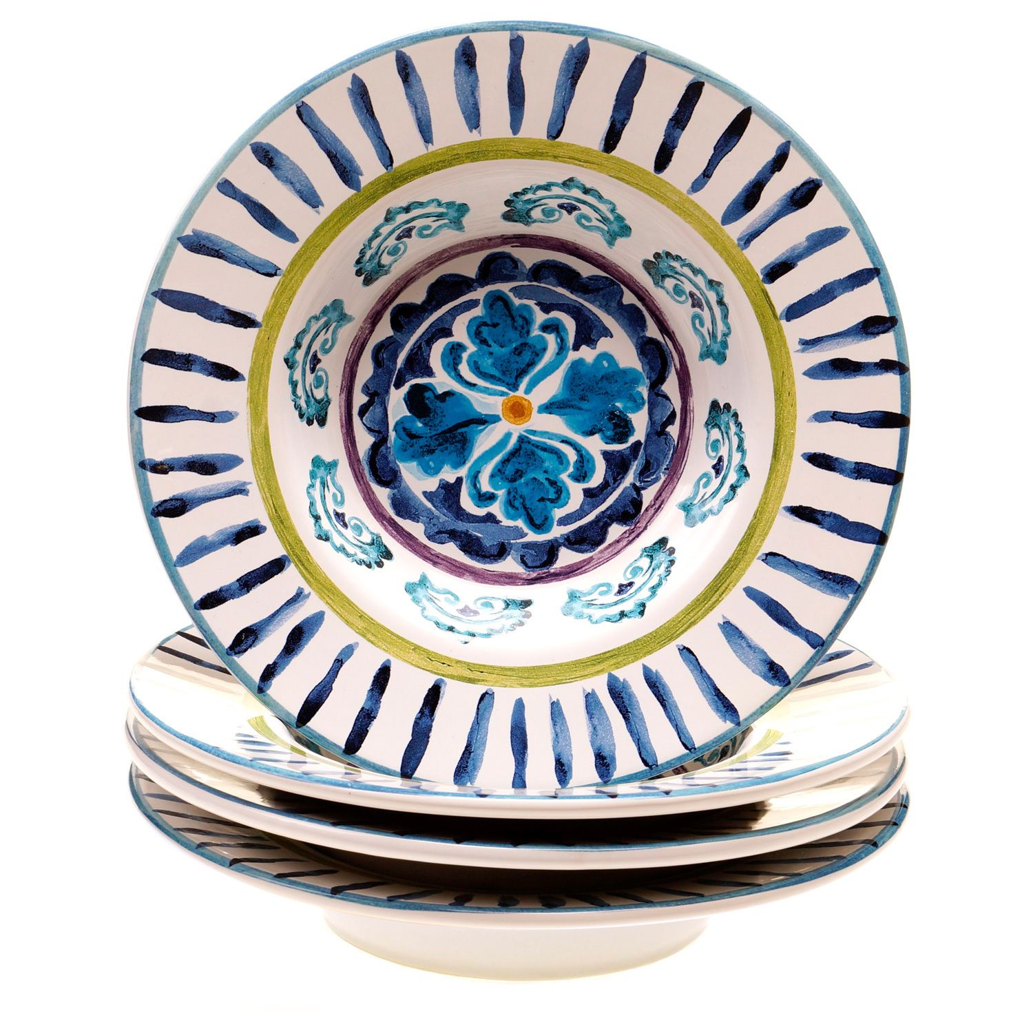 Designed with a Tuscan-inspired motif the Mood Indigo soup bowl set will bring  sc 1 st  Pinterest : tuscan inspired dinnerware - pezcame.com