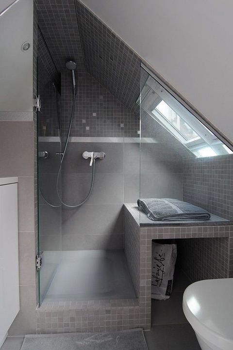 Good 52 Cool And Smart Attic Bathroom Designs | ComfyDwelling.com