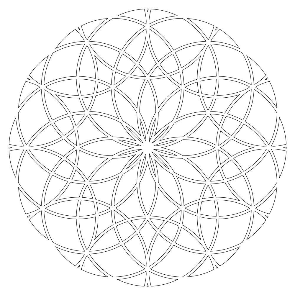 mandala geometric printable coloring pages | sacred geometry | sacred geometry colouring pages (page 2 ...